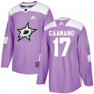 Men's Adidas Dallas Stars Nick Caamano Purple ized Fights Cancer Practice Jersey - Authentic